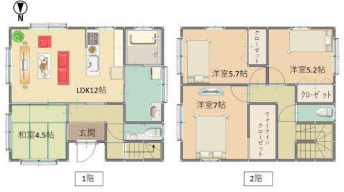小矢部市綾子 新築建売住宅サムネイル